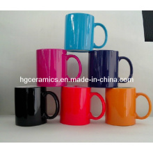 Becher 11oz mit Farbschicht. Farbüberzug Keramikbecher
