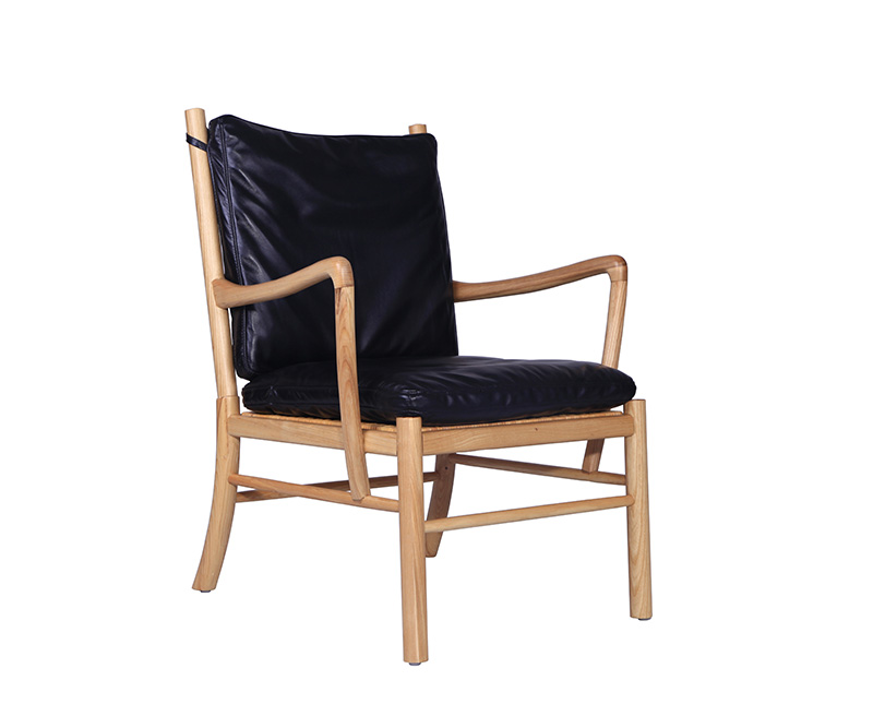 Leather-Chair-with-Armrest