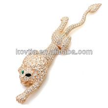 Luxueuse broche en or d'animaux broche en diamant design unique
