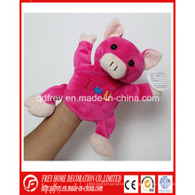 Pink Cute Hand Puppet Toy of Peluche Porc
