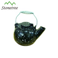 Hot Sale Wholesale Chinese Red Enamel Coating Cast Iron Teapot