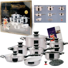 Amazon Vendor 17PC Stainless Steel Cookware Set Dishwasher Safe