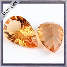 Pearlescent Oro Amarillo Milenio Corte CZ Gemstone Beads