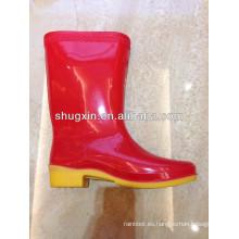 botas de invierno baratos caliente durable de las mujeres pvc lluvia media
