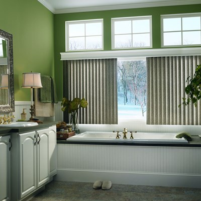 Center control vertical blinds