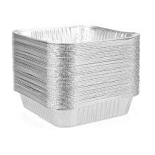 Formas quadradas de folha de alumínio descartáveis de 8 ''