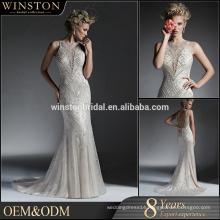 Bridal dresses New 2016 long sleeve a-line lace wedding dress