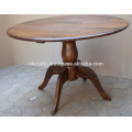 Solid Mango Wood Round Dining Table Colonial Indian Design
