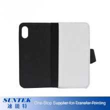 High Quality Wallet Style Blank PU Leather Phone Case 2D Sublimation Blank Flip Cover for iPhone