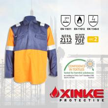 HRC 2 Fire Resistant FR Camisa com ARC Flash Protection