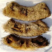 Abrigos de cuero con cuellos y puños de piel