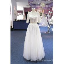 Half Sleeve Beading A Line Evening Bridal Wedding Dress