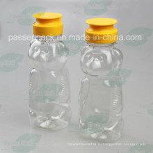 Бутылка с медным медным пластиковым медведем 480г с крышкой силиконового клапана (PPC-PHB-17)