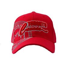 Red Acrylic Baseball Cap with Big Embroidery Logo (GKA01-F00063)