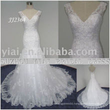 2011 latest elegant drop shipping freight free meimaid style beaded sweethart neckline mermaid lace bridal wedding dress JJ2364
