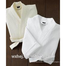 men's waffle kimono bathrobe made in China