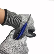 Anti Cut Level 5 13G HPPE Fiberglass Liner PU Dipped Cut Resistant Mechanics Gloves