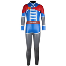 Seaskin Junior Smooth Skin Hero Pattern Triathlon Wetsuit