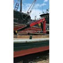 Carretilla elevadora, barco, barco, barco, barco marino, grúa montada para mini remolque, grúa, elevación, brazo hidráulico, diseño para la venta
