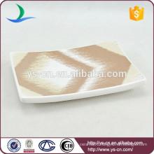 YSb40068-01-sd art ceramic bathroom sanitary bathtub shaped soap dish