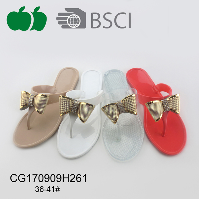 Women Sexy Fancy Jelly Pvc Slippers