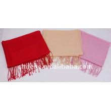 hiver femmes écharpe en laine unie châle pashmina