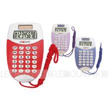 8-значный дисплей Карманный калькулятор Dual Power с подвесным шнуром (LC323)