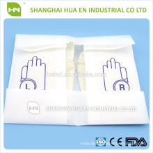 disposable surgical latex gloves powdered made in China