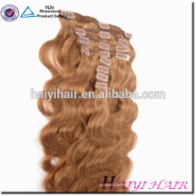 Private Label Superior Quality Grade 6A 7A 8A Unprocessed double drawn clip in skin weft human hair extensions