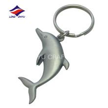 Customized matte nickel souvenir cute dolphin keychain