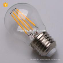 Bombilla de filamento LED G45, regulable, lámpara Edison vintage, 200 lúmenes, luz blanca cálida, omnidireccional, base E27