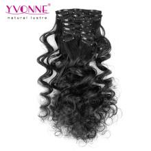 100% Верхний зажим человеческих волос в Выдвижениях волос