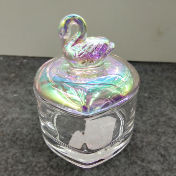 Rainbow Effect Swa Glass Candy Box Cake Jar