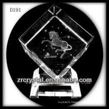 K9 3D Laser Horse Inside Crystal Cube