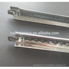 Fábrica de T-grid de techo de aluminio, T-grid galvanizado