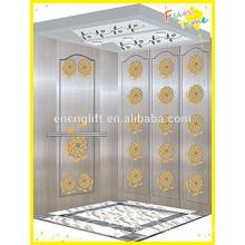 Eficiente interior y exterior MRL ascensor de pasajeros