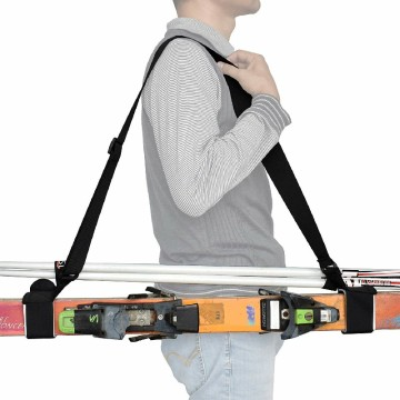 Sangle d'épaule porte-ski en nylon réglable et durable