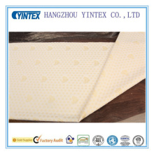 Tissu jaune doux en polyester pour literie