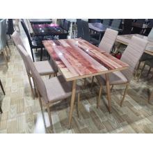 Mesa de centro de mármol moderna con mesa de comedor