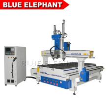 Blau elefant ele 1325 manuelle holzbearbeitung cnc router maschine, sperrholz cnc schneidemaschine mit 3 pneumatischen spindeln