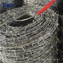 Китай поставщики колючая проволока вес на метр, колючая проволока крена загородки