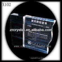 Trofeo de cristal en blanco atractivo del diseño X102