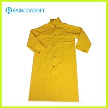 PVC Polyester PVC lange Regenjacke Rpp-040