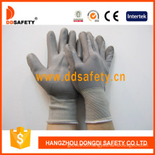 13 Gauge Nylon Knit Wrist, PU Coated Glove (DPU116)