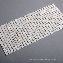 New Arrival Nature White Mother of Pearl Seashell  Square Mosaic Tile Mesh