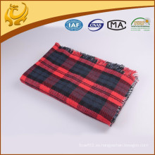 Fábrica de China Precio barato Tejido al por mayor 100% acrílico Plaid Throw