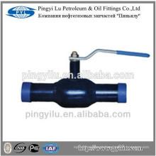 PN16 PN25 PN40 Válvula de esfera soldada DIN completa Q61F-25 para vapor