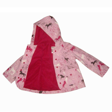 Cartoon design Pu-Regenjacke