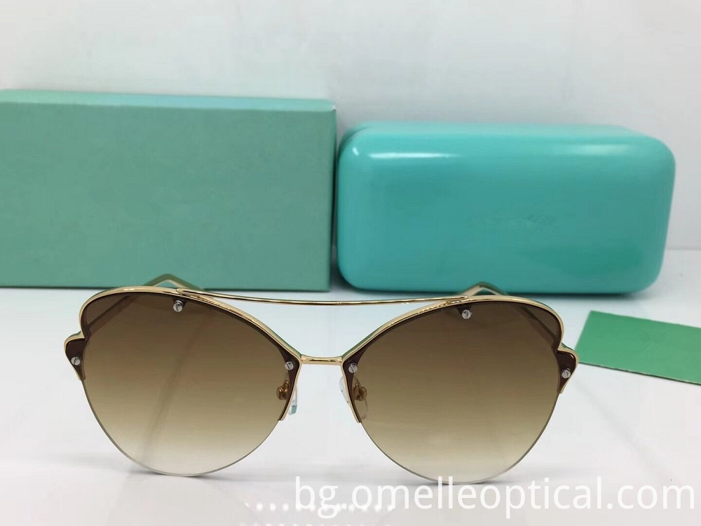 Semi Rimless Butterfly Sunglasses