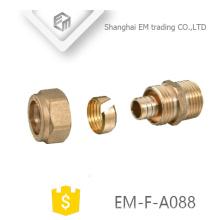 EM-F-A088 raccord de tuyau de compression de type manchon de carte en laiton